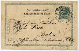CZECHOSLOVAKIA 1904 5 H. Postal Stationery Card With Olomouc Postmark.  Michel P131 - Czechoslovakia