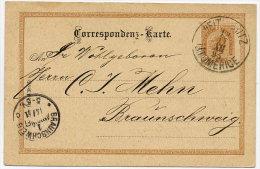 CZECHOSLOVAKIA 1890 2 H. Postal Stationery Card With Lutomerice  Postmark.  Michel P74 - Czechoslovakia