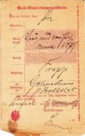 Post=Einlieferungsschein Avec Mention D´origine Manuscrite RUFACH Du 9.11.87 - Alsace-Lorraine