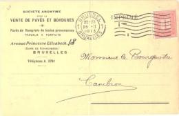 Postwaardestukken  5c  1913 ( 2 Stuks ) 35 C  1929 (1  Stuk) + 1 Publicitaire Postkaart Briefkaart  Van 1913 1 Centiem - Publicités