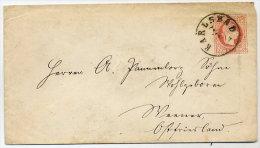 CZECHOSLOVAKIA 1872  5 Kr. Postal Stationery Envelope  With Karlsbad  Postmark.  Michel U60 I - Czechoslovakia