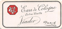 """0889 """"EAU DE COLOGNE EXTRA VIEILLE - FIADOR - PARIS"""" ETICHETTA  ORIGINALE. - Etichette"""