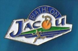 PIN´S //   . BIATHLON  JACOU  HÉRAULT. - Biathlon