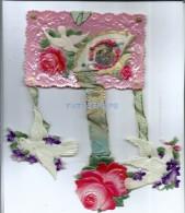 804 ART ARTE CELLULOID COUPLE LOVE ROMANTIC BIRD AND FLOWER MOVEMENT POSTAL POSTCARD - Schöne Künste