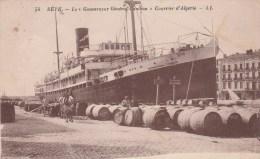 """Sete ( Cette)  -bateau  Le """"Gouverneur Général Cambon """" ( Courrier D'algérie) - Scan Recto-verso - Sete (Cette)"""