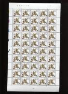 Belgie Buzin Vogels Birds 0.50Fr/0.01€ Volledig Vel Datumstrook Bande Datée 28/5/2001 Plaatnummer 2 - 1985-.. Birds (Buzin)