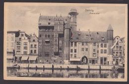 Danzig Gdansk AK Frauentor Hafen - Danzig