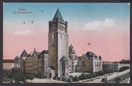 Posen Poznan Polen CAk Königliches Residenzschloss  Straßenbahn Feldpost Briefst. Festungs Funker Abteilung - Posen
