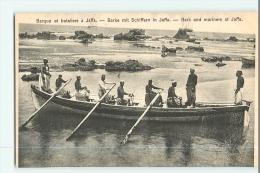 JAFFA - Barque Et Bateliers - Beau Plan Animé -  TBE - 2 Scans - Israel