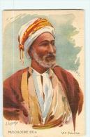 PALESTINE - Beau Portrait Homme En Costume Ethnique - Signée Lessieux - Muscoline Byla - TBE - 2 Scans - Palestine