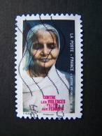OBLITERE FRANCE ANNEE 2010 N°428 CONTRE LES VIOLENCES FAITES AUX FEMMES FEMME INDIENNE - France