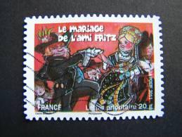 OBLITERE FRANCE ANNEE 2011 N°579 FETES ET TRADITIONS DE NOS REGIONS MARIAGE DE L´AMI FRITZ A MARLENHEIN ALSACE - France