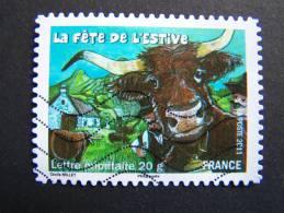 OBLITERE FRANCE ANNEE 2011 N°582 FETES ET TRADITIONS DE NOS REGIONS FETE DE L´ESTIVE D´ALLANCHE AUVERGNE - France
