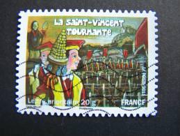 OBLITERE FRANCE ANNEE 2011 N°583 FETES ET TRADITIONS DE NOS REGIONS LA SAINT VINCENT TOURNANTE EN BOURGOGNE - France