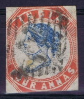 India  1854,  Yv Nr 5   SG Type Nr 9,   Signed/ Signé/signiert/ Approvato BRUN - India (...-1947)