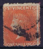 St Vincent 1871,  Yv Nr 19b Vermillion (11-12,5 / 15 Perfo)      Signed/ Signé/signiert/ Approvato - St.Vincent (...-1979)