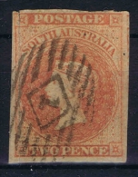 South Australia 1855 ,  Yv Nr 2   Used  Signed/ Signé/signiert/ Approvato BRUN, Nice Cancel Has A Vertical Fold At Left - 1855-1912 South Australia