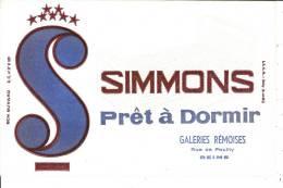 "Buvard  Matelas ""SIMMONS""   Galeries R�moises Rue de Pouilly  REIMS"
