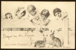 Enfants Et Lapins (Wichera MM Vienne) Joyeuses Pâques - Wichera