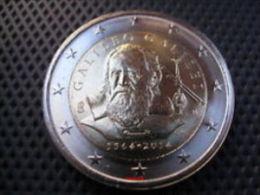 2 EURO ITALIA 2014 450 ANNI NASCITA GALILEO GALILEI FDC - Italy