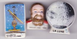 3 Fèves La Lune, La Lunette, Galilée - Santons/Fèves