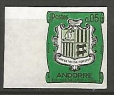 ANDORRE  ARMOIRIES  N� 154 NON DENTELE  NEUF** LUXE / MNH