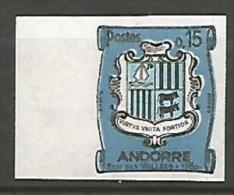 ANDORRE  ARMOIRIES  N� 156 NON DENTELE  NEUF** LUXE / MNH