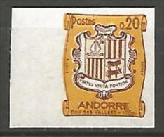 ANDORRE  ARMOIRIES  N� 157 NON DENTELE  NEUF** LUXE / MNH