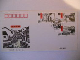 Chine Fdc 2001 Villes Anciennes Vallee Du Lac Taihu - 1949 - ... People's Republic