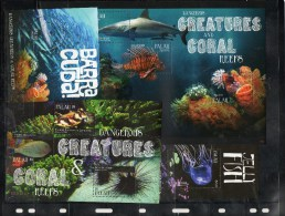 PALAU,2011,DENGEROUS SEA CREATURES.2S/S+2M/S,MNH** - Vita Acquatica