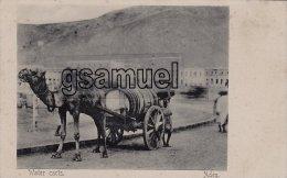 Asie > Yémen – Aden - Water Carts – (attelage). Pub Hôtel De L'Europe Turkish Shop J. Benghiat & Son - Yemen