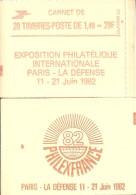 """CARNET 2102-C 8 Sabine """"PHILEXFRANCE 82"""" Fermé (haut) Parfait état Bas Prix, à Saisir. - Carnets"""