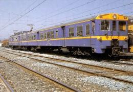 Nº365 POSTAL DE ESPAÑA DE UNA UNIDAD ELECTRICA EN PAMPLONA (TREN-TRAIN-ZUG) AMICS DEL FERROCARRIL - Trenes