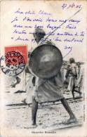 SOMALIE GUERRIER SOMALIS   TIMBRE AVEC CACHET - Somalia