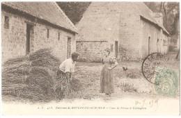 Dépt 62 - ECHINGHEN - Cour De Ferme à Echinghen (fagots) - Environs De Boulogne-sur-Mer - Autres Communes