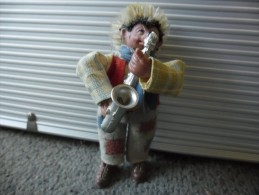 Vintage Figurine MECKI De 1950 - 1955 @ HERISSON 9 Cm Musicien Saxo Saxophoniste - Action- Und Spielfiguren