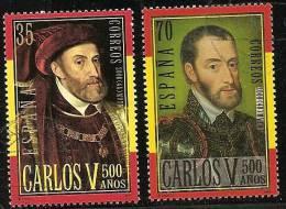 2000-ED. 3697 A 3698-CARLOS V .RETRATOS-USADO - 1931-Hoy: 2ª República - ... Juan Carlos I