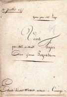 Acte De Vente De 1857, COUTERNE, FROGER, PEYRATE, ALENCON, 3 Pages - Manuscrits