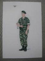 Dessin De Légionnaire Parachutiste En Algérie - Documents