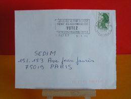 Flamme - 62 Pas De Calais, Arras, Votez - 5.5.1988 - - Marcophilie (Lettres)