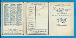"""Zakkalender - Dépôt Général Des Produits Spécialises C. Jonas Et Du """"Rapcor"""" - 1927 - Calendriers"""