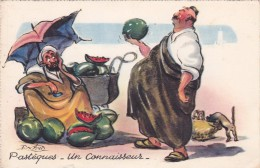 CPI MAROC - Illustrateur P. Néri - Marchand De Pastèques - Un Connaisseur Obèse @ Humour Carte Humoristique - Andere Zeichner