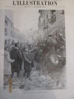 1896 Magnifique Illustration  Carmaux - Réception Des Députés Socialistes. - Vieux Papiers