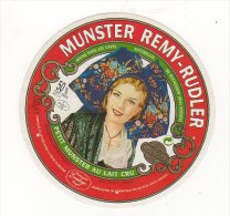 Jan15   88119     étiquette Fromage   Munster Remy Rudler - Cheese