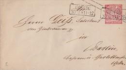 NDP GS-Umschlag 1 Gr. R2 Coswig 30.3. Gel. Nach Berlin - Norddeutscher Postbezirk