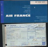 Billet Air France Bone-Alger-1963 - Billets D'embarquement D'avion