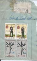 Uniforms Of The Infantryman. Indigenous Art. Sculpture. Timor. Registered Letter Fragment In Dili 1962. 2 Scans. - East Timor