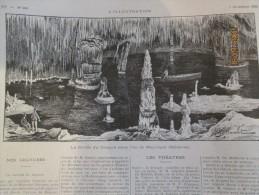 1896 La Grotte Du Dragon Dans L Ile De Majorque Baleares - Vieux Papiers
