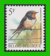 BUZIN - 2475** Hirondelle De Cheminée / Boerenzwaluw - FLUO - 1985-.. Birds (Buzin)