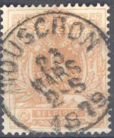 _5Bm-984: N° 28: E9: MOUSCRON - 1869-1888 León Acostado